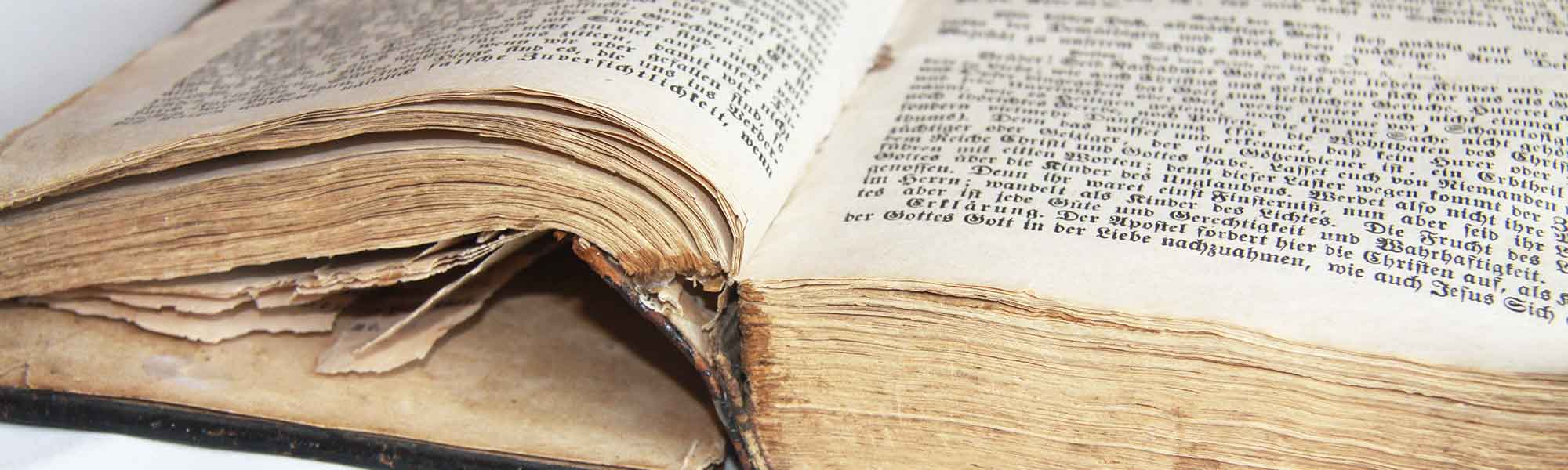 Altes Buch - Ausschnitt